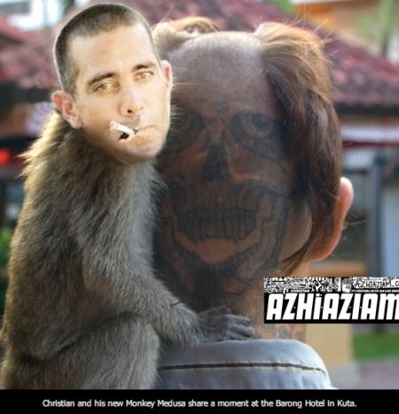 Monkey rollin' with Fletcher
